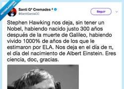 Enlace a Stephen Hawking, por @SantiGarciaCC