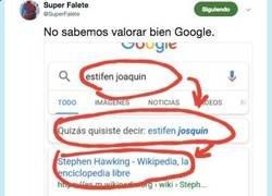 Enlace a Google es de las mejores cosas que nos ha pasado en la vida y esto lo demuestra