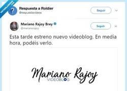 Enlace a Mariano Rajoy se va hacer youtuber, por @respuestavideos