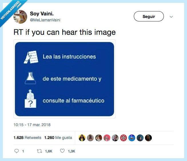 anuncio,escuchar,medicamento