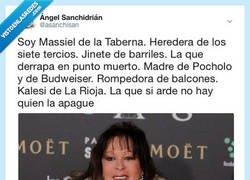 Enlace a Massiel: La que si arde no para, por @asachristan