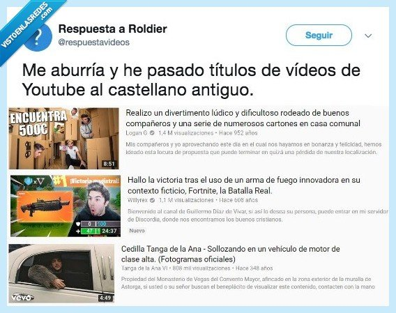 castellano antiguo,titulos,videos