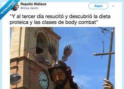 Enlace a Jesucristo ha hecho crossfit, por @ninya_repolIo