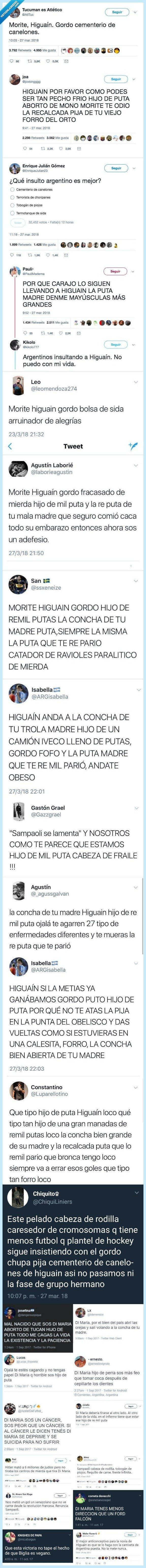 485330 - El España- Argentina dejó ayer los mejores insultos que leerás en tu vida