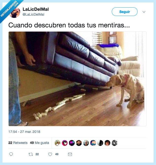 debajo del sofa,mentrias