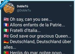 Enlace a La mejor letra de himno, por @DobleTu