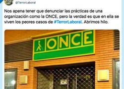 Enlace a El hilo de twitter que explica las precarias condiciones que hay detrás de la ONCE, por @TerrorLaboral
