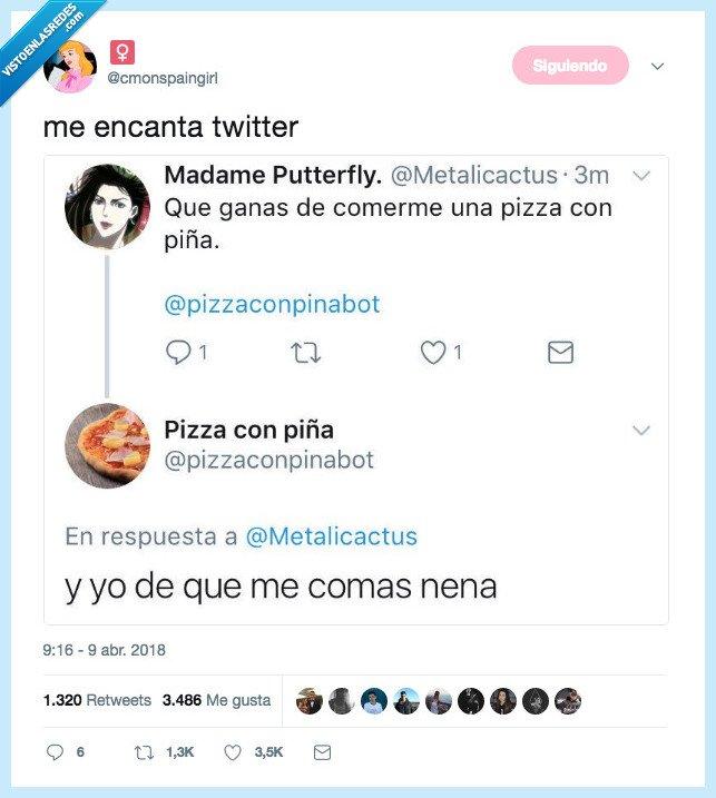 gustar,pizza con piña,twitter