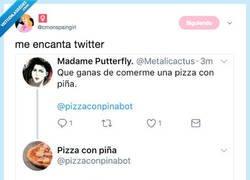 Enlace a ¿Alguien que quiere comer pizza con piña? Debe de ser fake, por @cmonspaingirl