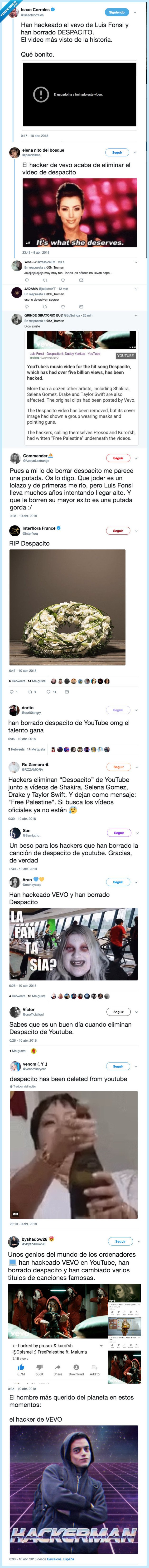 despacito,hacker,vevo