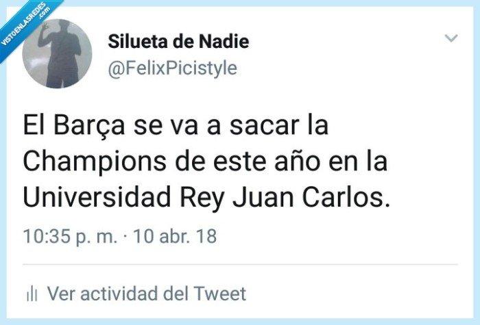 Barça,Barcelona,Champions,fútbol,humor,universidad