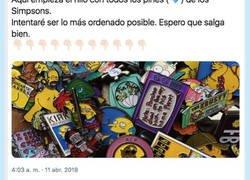 Enlace a Comparte su colección de pins de los Simpsons y cada uno se supera de lo que molan, por @brunoacanfora