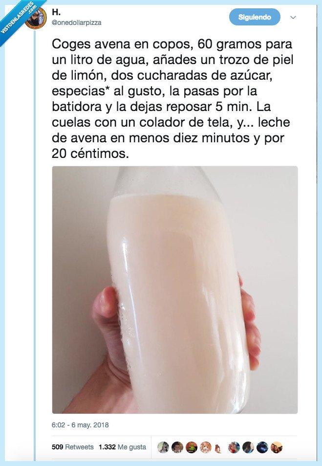 barata,leche avena