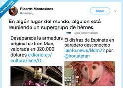 Enlace a Los Vengadores: Infinity Barrio Sésamo War, por @malenko_