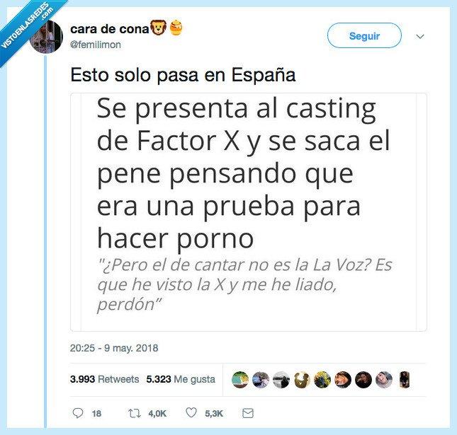 españa,factor x,verdad