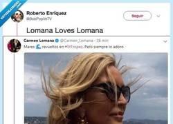 Enlace a El CM de Carmen Lomana es manco y la caga fuertemente con este tuit, por @BobPopVeTV