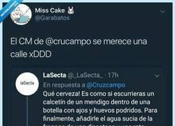 Enlace a Es nuestro nuevo Mesías: El CM de @Cruzcampo