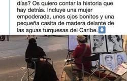 Enlace a El hilo que cuenta la verdad del retrato a la mujer con niqab en Barcelona, por @OriolQF