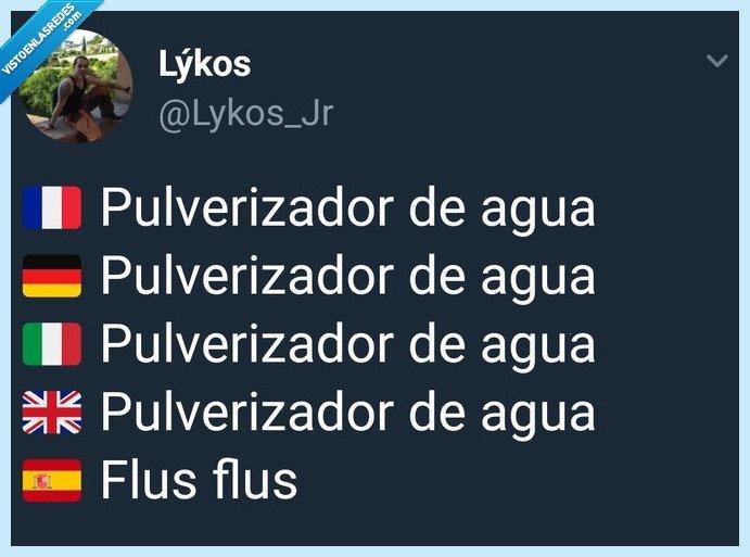 agua,fácil,flus flus,Humor,pulverizador,sin complicarse