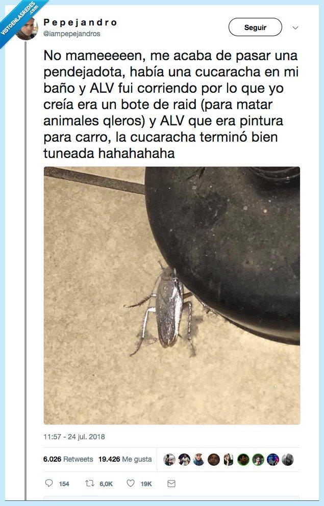 cucaracha,plateada
