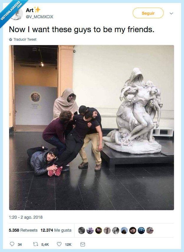 amiga,arte,escultura,tios