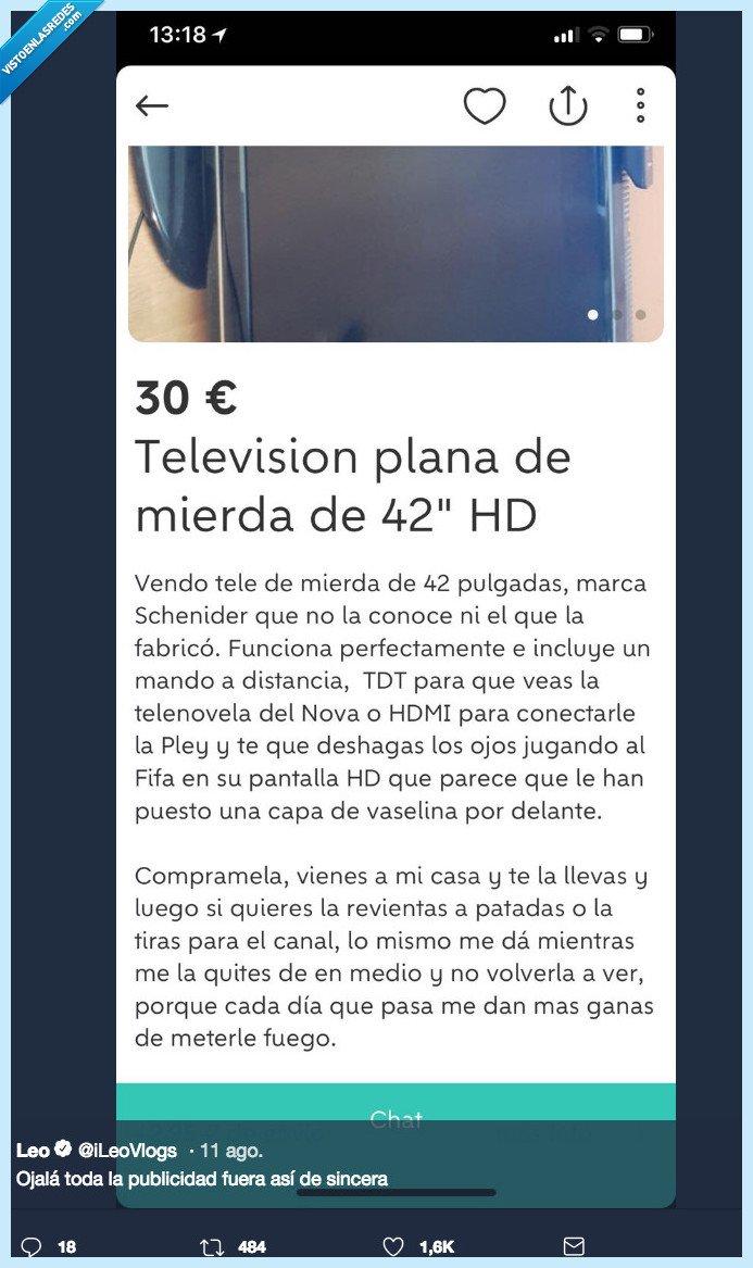 television,venta,wallapop