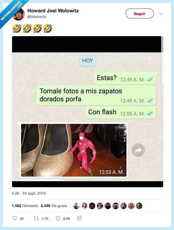 flash,insta,zapatos