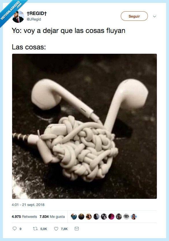 auricular,cosas,fluir