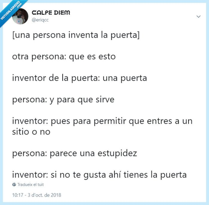 eriqcc,humor,inventor,puerta,twitter