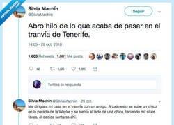 Enlace a Denuncia como ha tenido que ayudar a una chica que estaba siendo acosada en Tenerife, por @SilviaMachiin