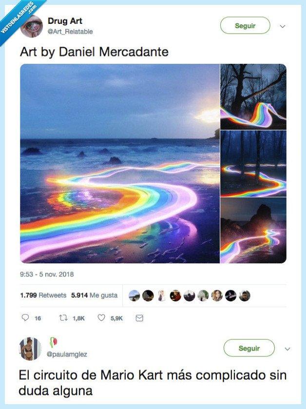 imposible,pasar,senda arcoiris