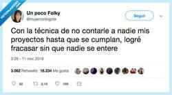 Enlace a No falla, por @mujerconbigote