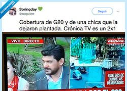 Enlace a Está el G20 en Argentina y este programa se centra en esta chica que le dieron plantón por culpa de la cumbre