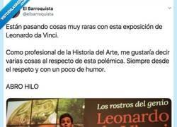 Enlace a Están poniendo a caldo a Christian Gálvez por la última exposición de Da Vinci y con motivos, por @elbarroquista