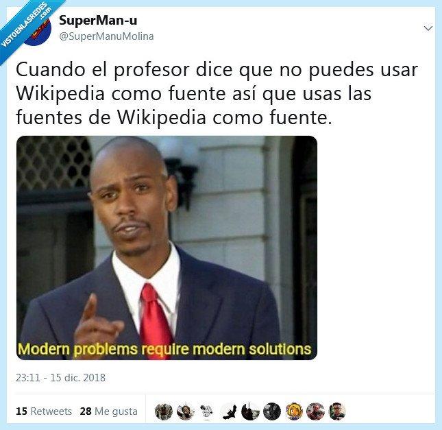 fuentes,profesor,wikipedia