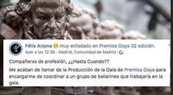Enlace a Denuncia como la Produción de los Goya busca bailarines a cambio de promoción y sin pagarle ni un duro
