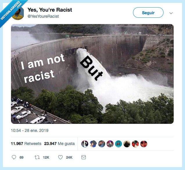 poquito,racismo,se le ha caido así una chispitina