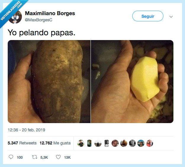 más que piel,patata,quitar