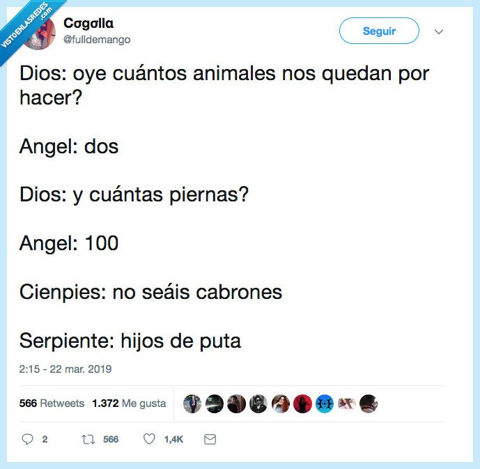 amimales,cien pies,hacer