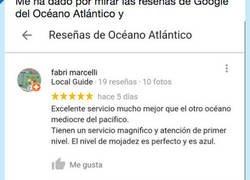Enlace a Al Oceano le han dejado unas reviews graciosisimas, por @PabloPacman