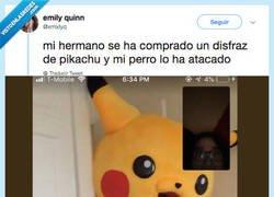 Enlace a Perro usó Mordisco... Pikachu está gravemente herido, por @xmxlyq