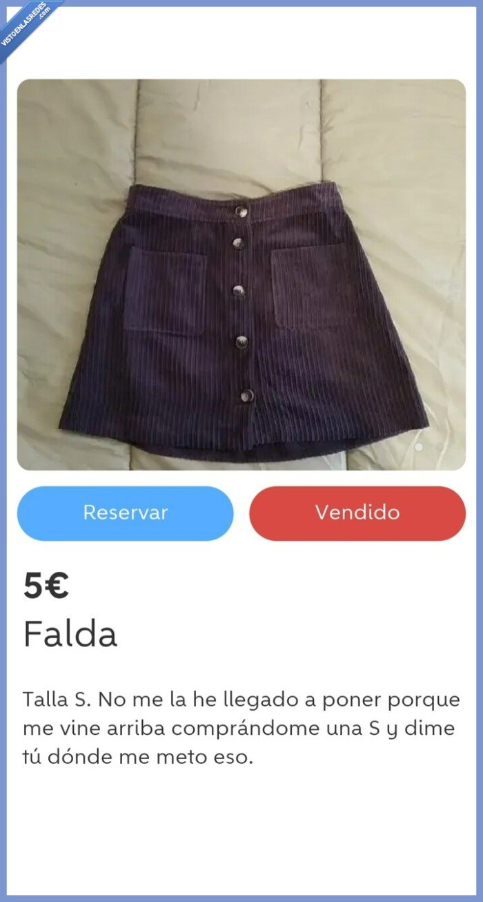 falda,Wallapop