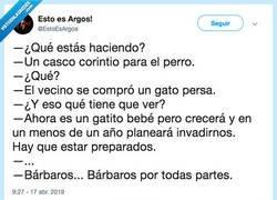 Enlace a QUÉ BARBARIDAD, por @EstoEsArgos