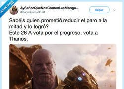 Enlace a Thanos for president, por @BocataJamonEHM