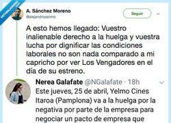 Enlace a Un cine de Pamplona hace huelga el día del estreno de los Vengadores y ya te puedes imaginar la reacción de la gente, por @alejandrosanmo