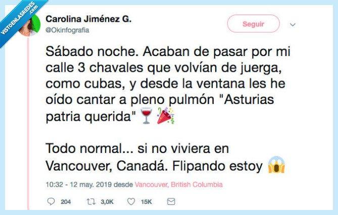 asturias,borrachera,Canada,encuentros,españoles por el mundo,vecinos