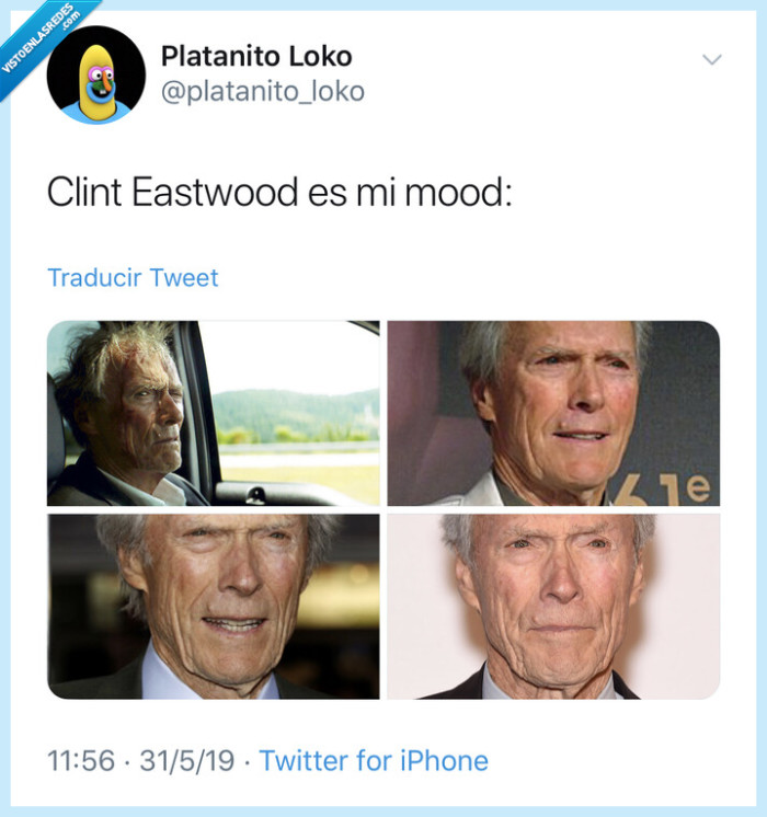 actor,cara,Clint Eastwood,mood