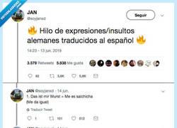 Enlace a Los insultos alemanes traducidos al español es lo mejor que hemos leído en tiempo, por @soyjanxd
