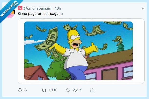 cagarla,dinero,simpsons