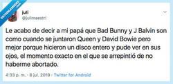 Enlace a Vaya disgusto que se ha llevado su padre, por @julimaestri